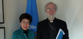 Dr. Margaret Chan and Archbishop Rowan Williams met at the World Health Organization in January 2012
